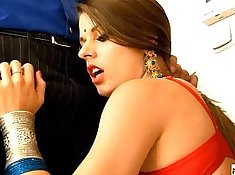 Good morning horny indian chick sucking a dick and nose cumshot