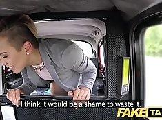 Petite teen rides taxi cab driver