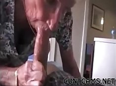 Kinky Grandmother FUCKS Baby During Cumshots