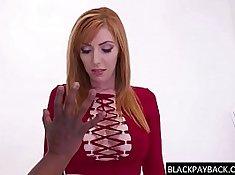 Busty redhead sexpot Becca Rio has her muff stuffed with BBC thief