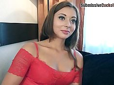 Cute bombshell gets humiliated in a FFMM video
