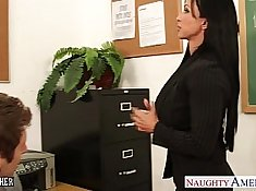 Cute schoolgirl gets deeply fucked by the teacher hard