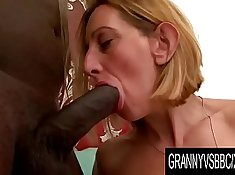 Young blonde granny gets an asshole fucked