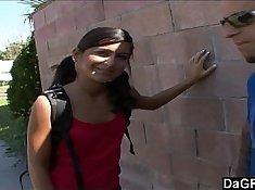 BLACKED School Girl teasing on her vanity