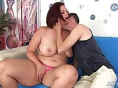Big tits mom spread legs and fucked