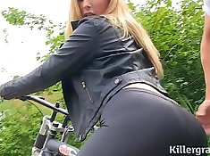 All Internal Used Booty babe rides dick