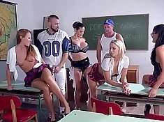Very hardcore insane gangbang with juvenile schoolgirl Christy Canyon 4some
